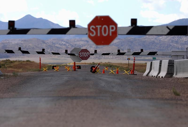 Closed gates at the entrance to Area 51 as an influx of tourists responding to a call to 'storm' Area 51, a secretive U.S. military base believed by UFO enthusiasts to hold government secrets about extra-terrestrials, is expected in Rachel, Nevada, Sept. 19, 2019. (Photo: Jim Urquhart/Reuters)