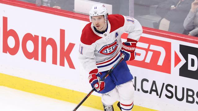 Montreal Canadiens forward Brendan Gallagher has been placed on injured reserve with a concussion. (Darcy Finley/NHLI via Getty Images)
