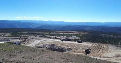 View of WTP and Concentrator Pads with WTP foundation to left (CNW Group/eCobalt Solutions Inc.)