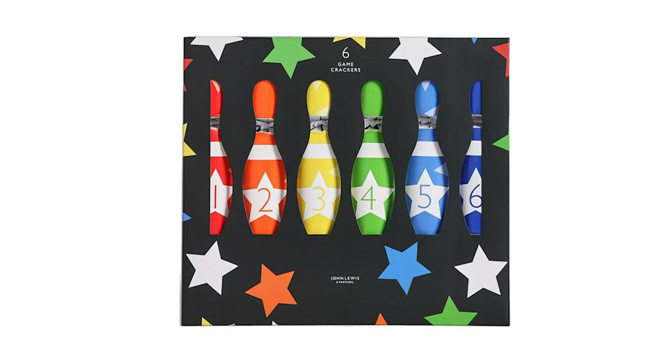 John Lewis & Partners Santa Bowling Game Christmas Crackers