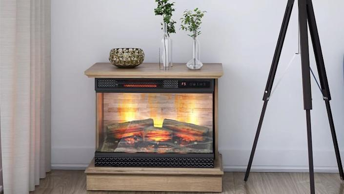 All the joys of a fireplace with none of the danger.