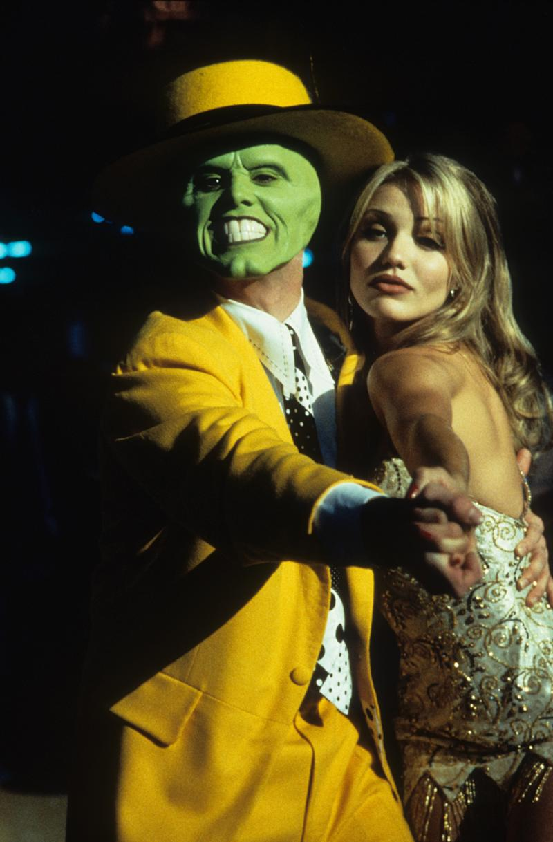Jim Carrey dancing with Cameron Diaz in a scene from the film 'The Mask', 1994. (Photo by New Line Cinema/Getty Images)