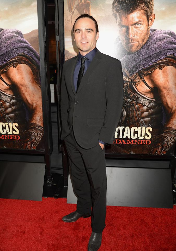 "Dustin Clare attends the premiere of Starz's ""Spartacus: War of the Damned"" at Regal Cinemas L.A. Live on January 22, 2013 in Los Angeles, California."