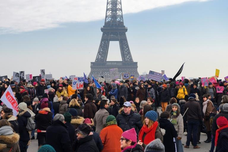 The anti-Trump rallying cry was heard beyond America's shores with organizers saying over 2.5mn signed up to take part in one of more than 600 marches being held worldwide