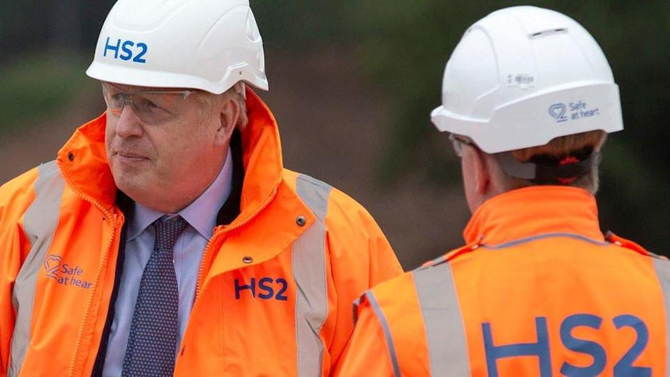 The Prime Minister visited an HS2 construction site on Friday
