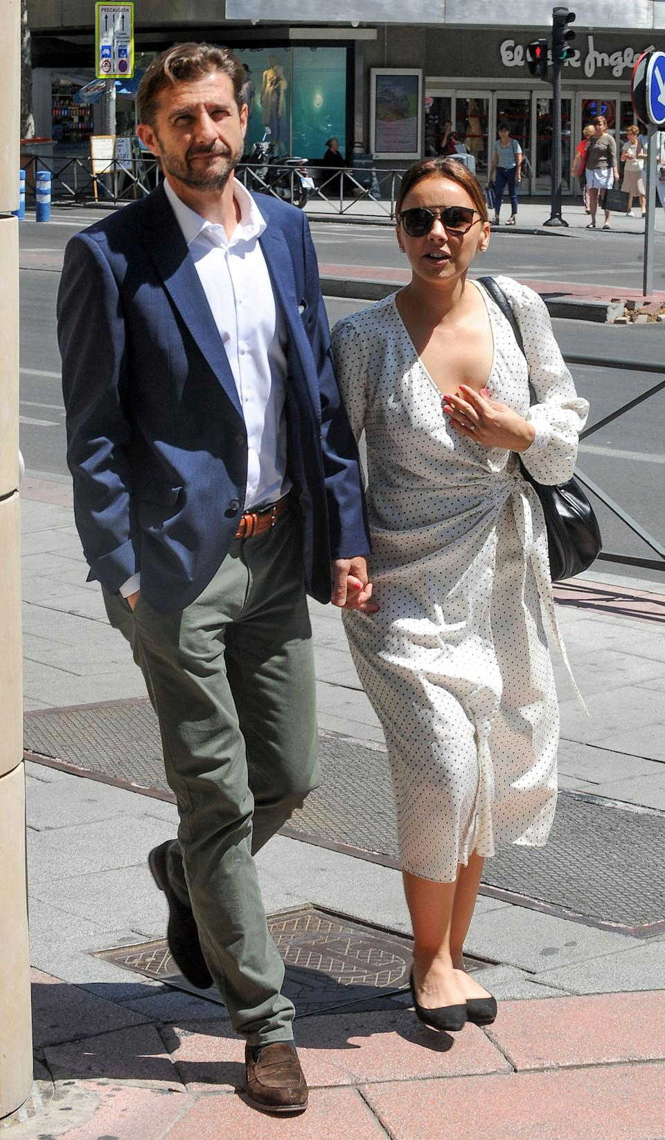 MADRID, SPAIN - JUNE 25: Chenoa and Miguel Sanchez Encinas are seen on June 25, 2019 in Madrid, Spain. (Photo by Europa Press Entertainment/Europa Press via Getty Images)