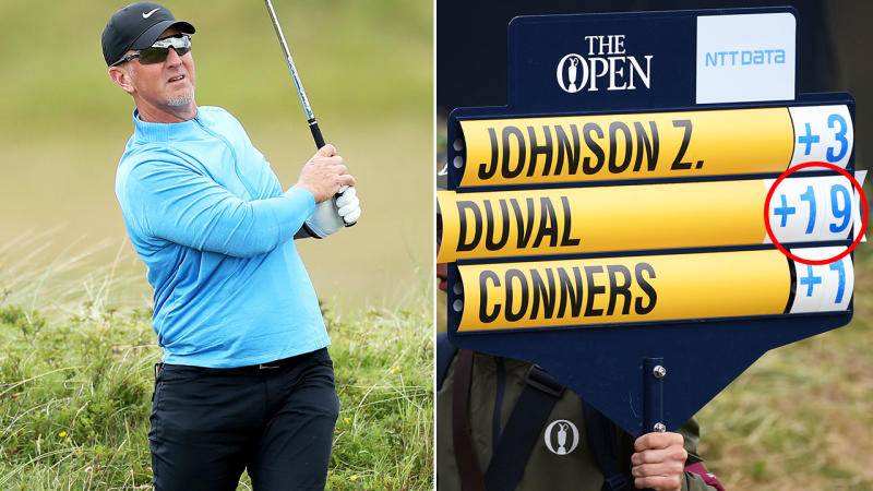 Fair to say David Duval had an absolute shocker in the opening round at the British Open. Image: Getty