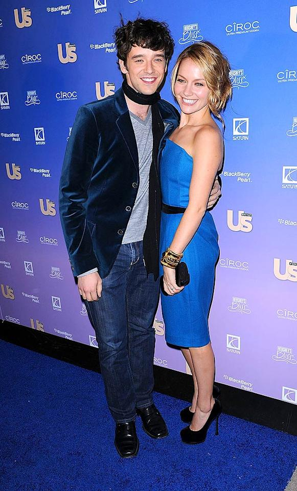 "Yes, Michael Urie is a tad underdressed for Us Weekly's ""Hot Hollywood"" fete, but we can't help but smile whenever he and his ultra sexy ""Ugly Betty"" costar Becki Newton (in cobalt YSL) join forces. Will someone greenlight their spin-off already?! James Devaney/<a href=""http://www.wireimage.com"" target=""new"">WireImage.com</a> - October 21, 2008"