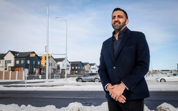 Calgary City councillor George Chahal in the Skyview Ranch community in Calgary, Alta., Saturday, Jan. 30, 2021.
