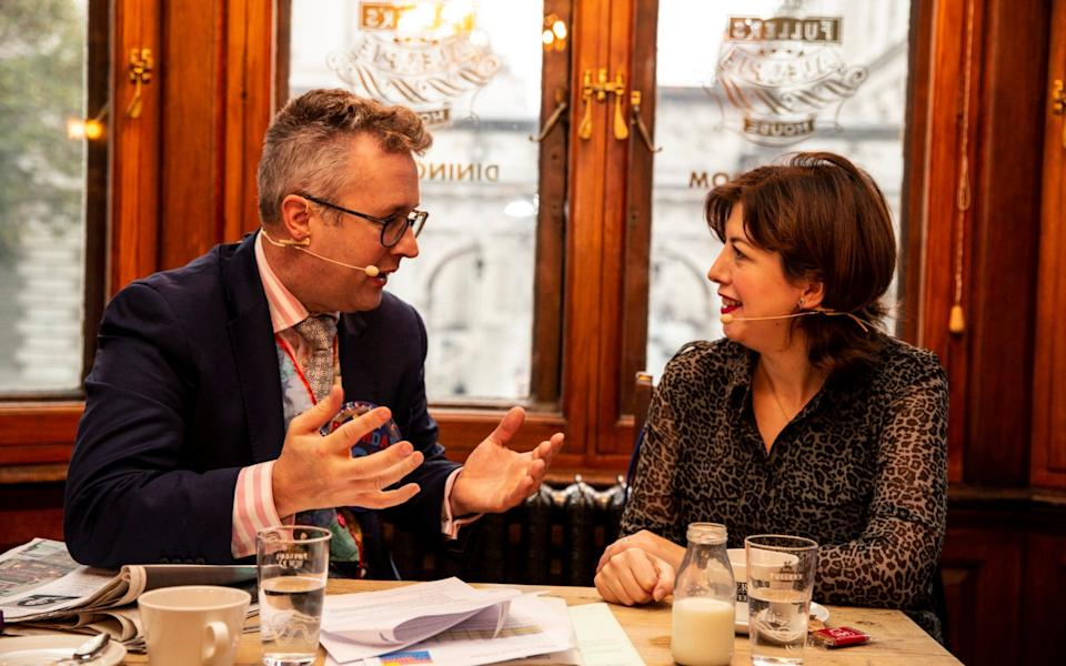 Lucy Powell with the Telegraph's Christopher Hope - Heathcliff O'Malley