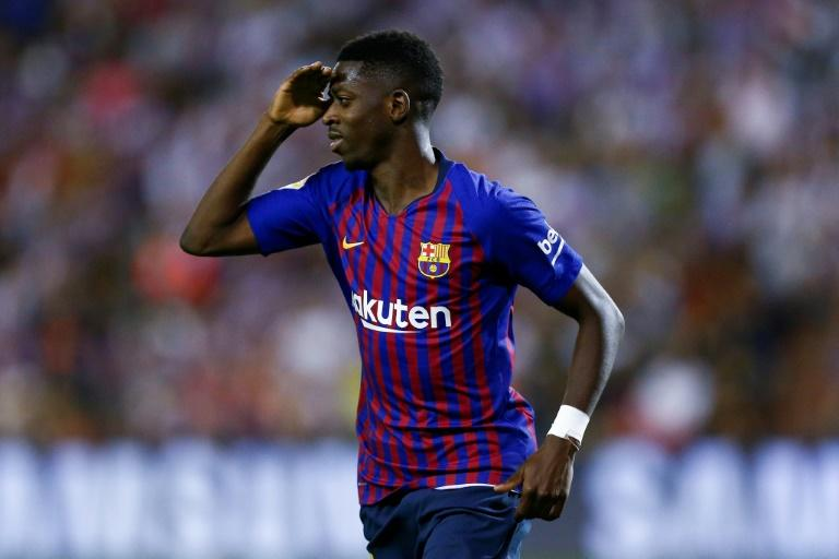 The future looks brighter for fit-again Barcelona forward Ousmane Dembele who saluted after scoring against Valladolid