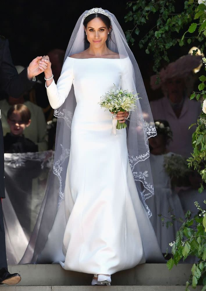 Meghan Markle at her wedding to Prince Harry on Saturday at Windsor Castle