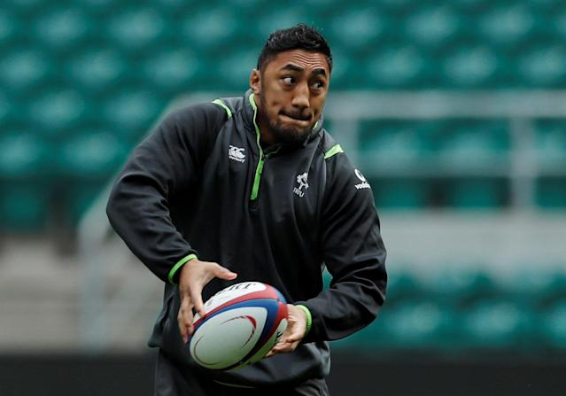 Rugby Union - Ireland Captain's Run - Twickenham Stadium, London, Britain - March 16, 2018 Ireland's Bundee Aki during the captains run Action Images via Reuters/Andrew Couldridge