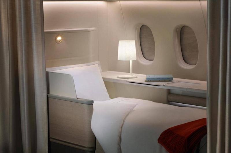 Air France La Premiere offers exquisite bedding (Air France)