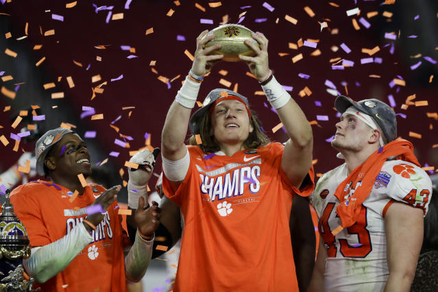 Trevor Lawrence is the odds-on favorite to hear his name called first at the 2021 NFL draft. (AP Photo/Rick Scuteri)