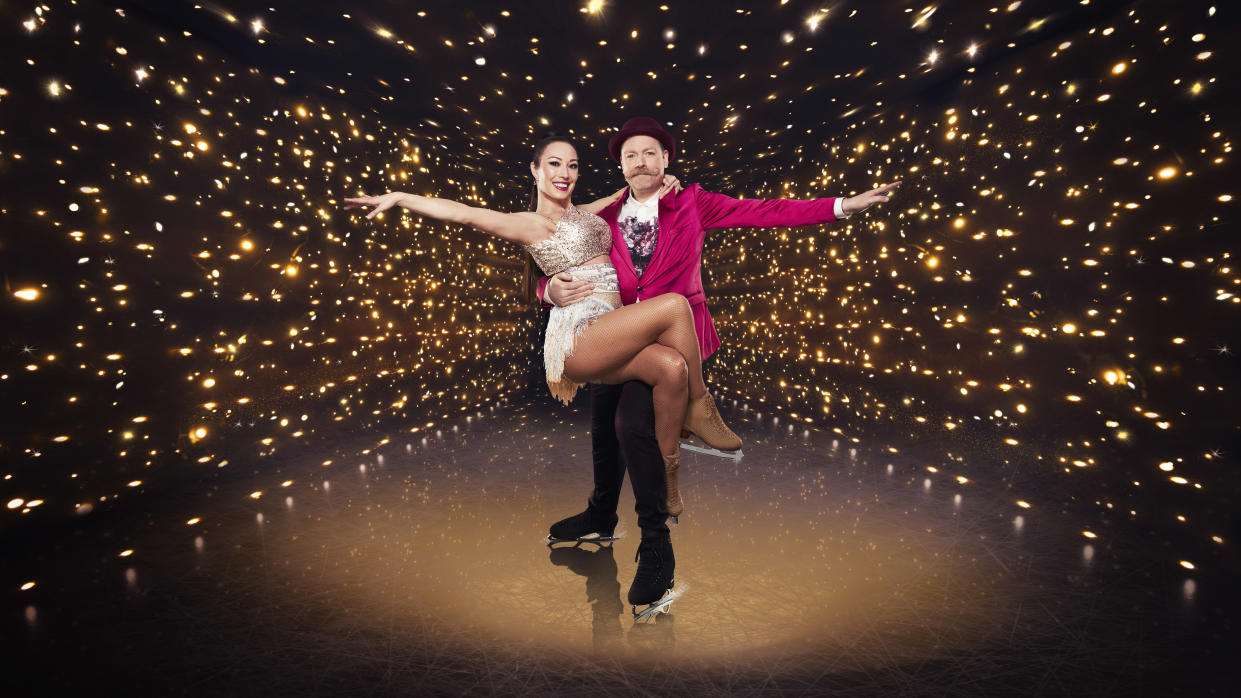 Dancing on Ice: SR13 on ITV, Pictured: Robin Johnstone and Rufus Hound. (ITV)