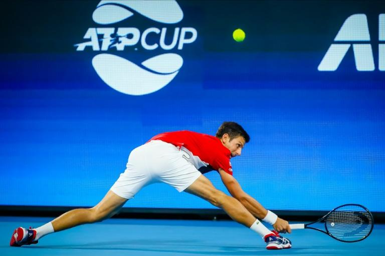 Novak Djokovic got his Australian Open campaign underway with a win against Kevin Anderson in Brisbane