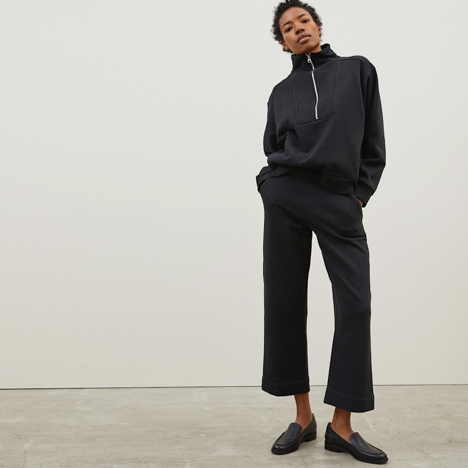 The Wide-Leg Track Pant. Image via Everlane.