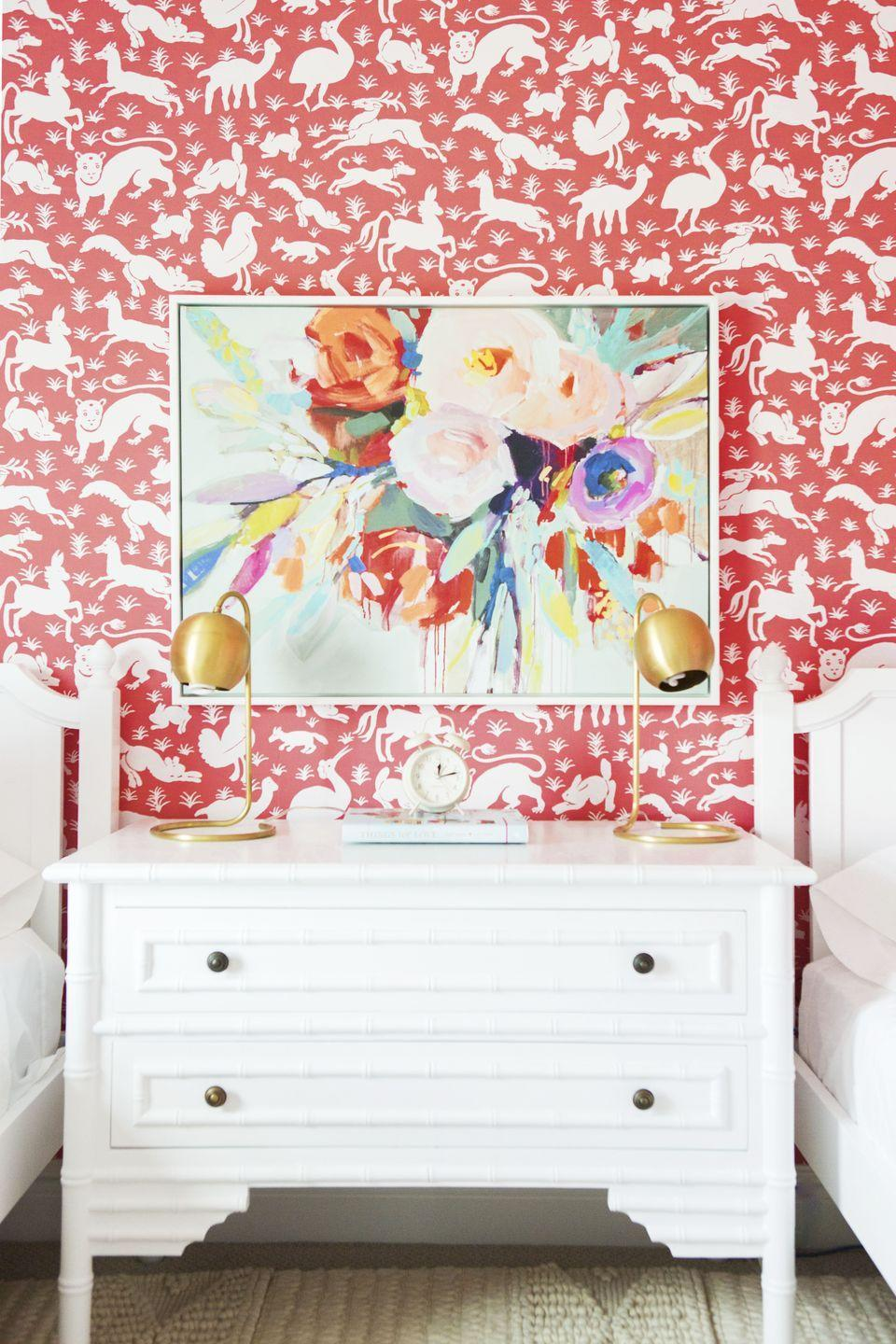 "<p>Traditional white furniture can stand up to a poppy print. Today's removable wallpapers also make bold designs commitment-free. </p><p><a class=""link rapid-noclick-resp"" href=""https://go.redirectingat.com?id=74968X1596630&url=https%3A%2F%2Fwww.anthropologie.com%2Fremovable-wallpaper&sref=https%3A%2F%2Fwww.goodhousekeeping.com%2Fhome%2Fdecorating-ideas%2Fg770%2Fdecor-ideas-master-bedroom%2F"" rel=""nofollow noopener"" target=""_blank"" data-ylk=""slk:SHOP WALLPAPER"">SHOP WALLPAPER</a></p>"