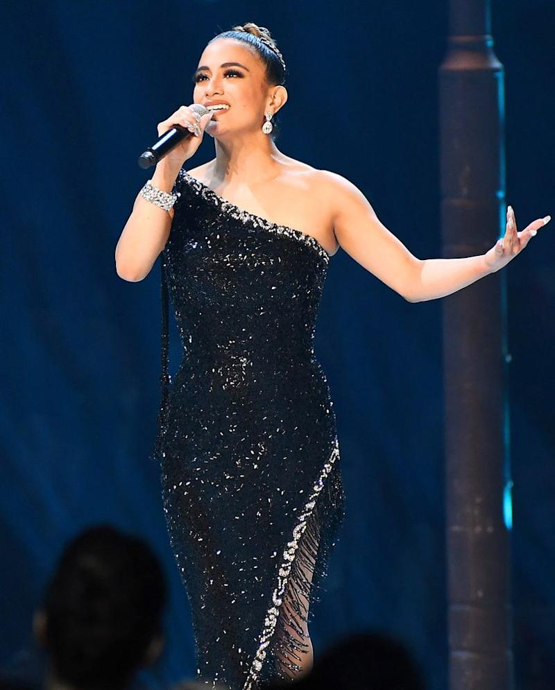 Ally Brooke performs at the 2019 Miss Universe competiton in Atlanta | Paras Griffin/Getty