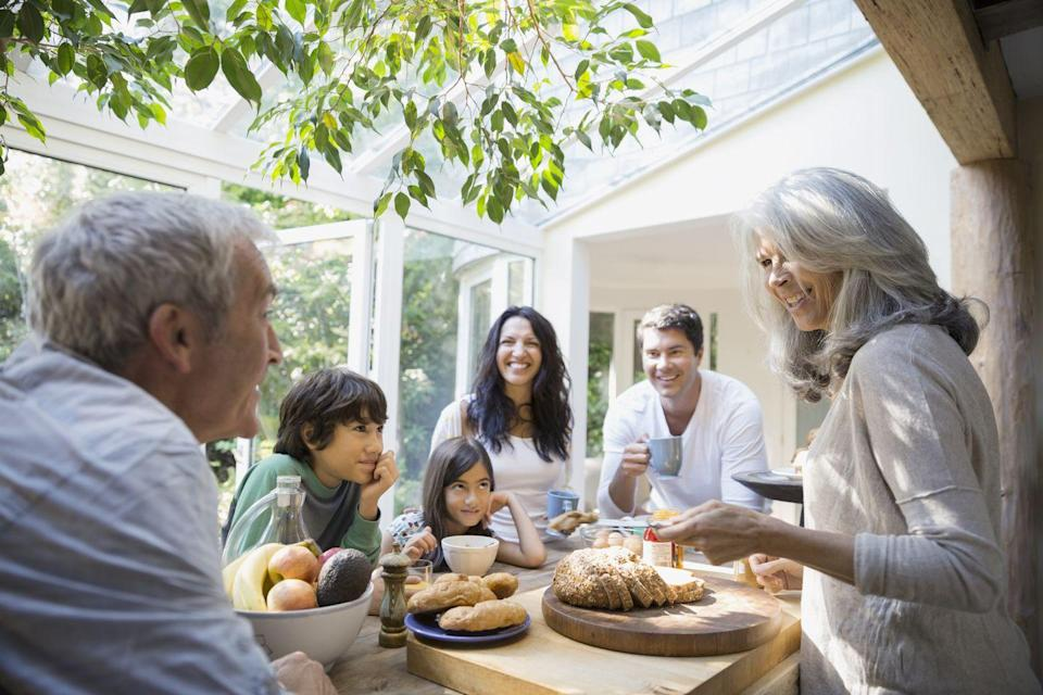 "<p>If your family eats Thanksgiving dinner a little on the later side, starting the day with <a href=""https://www.goodhousekeeping.com/food-recipes/easy/g871/quick-breakfasts/"" rel=""nofollow noopener"" target=""_blank"" data-ylk=""slk:a big breakfast"" class=""link rapid-noclick-resp"">a big breakfast</a> can help keep the hangries at bay. Some families serve mimosas to set the festive mood, others set out bagels and sweet breads so everyone can nosh while they prep. Or maybe you're more of a quiche and egg casserole crew. Whatever your breakfast style, there's a reason it's the most important meal of the day.</p>"