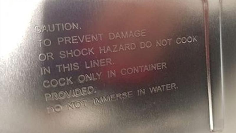 The embarrassing spelling mistake found on a Kmart pot has caused quite a stir online. Source: Facebook.