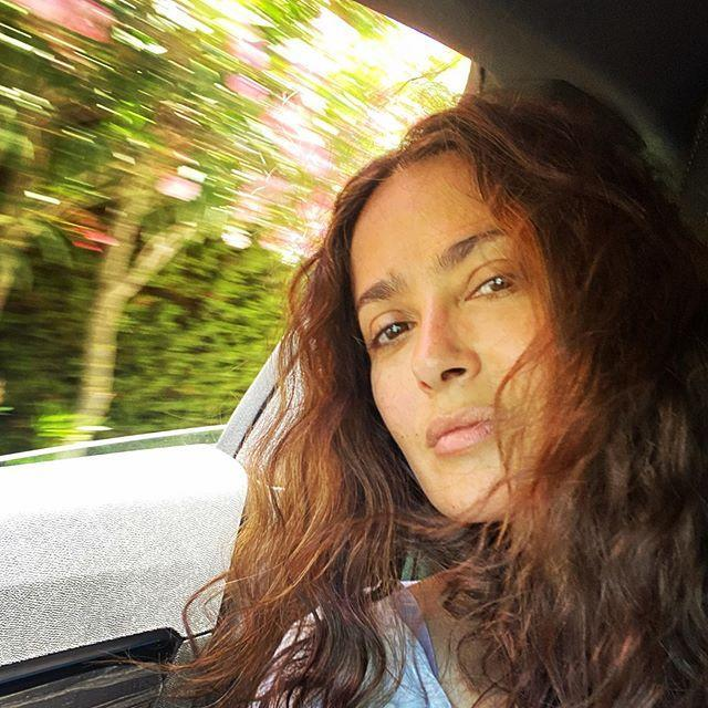 """<p>We're not the only ones that can't face putting make-up on for our morning commute. Salma Hayek worked a glowy make-up free complexion and natural curls for a recent car journey.</p><p><a href=""""https://www.instagram.com/p/CCWjQV7Jdkx/?utm_source=ig_embed&utm_campaign=loading"""" rel=""""nofollow noopener"""" target=""""_blank"""" data-ylk=""""slk:See the original post on Instagram"""" class=""""link rapid-noclick-resp"""">See the original post on Instagram</a></p>"""