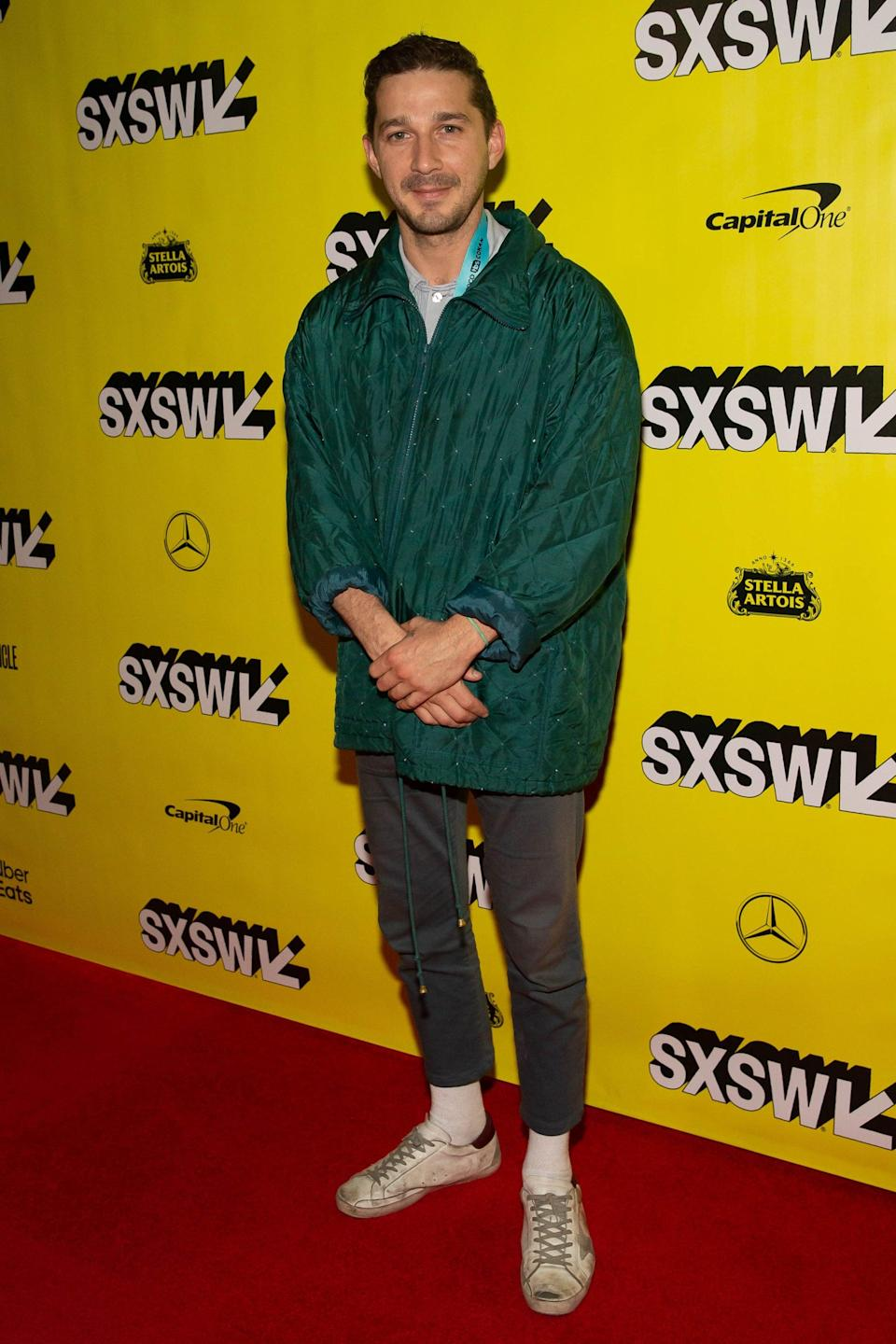 <p>I'm seeing a pattern when it comes to Shia and sneakers, but I don't really mind one bit. </p>