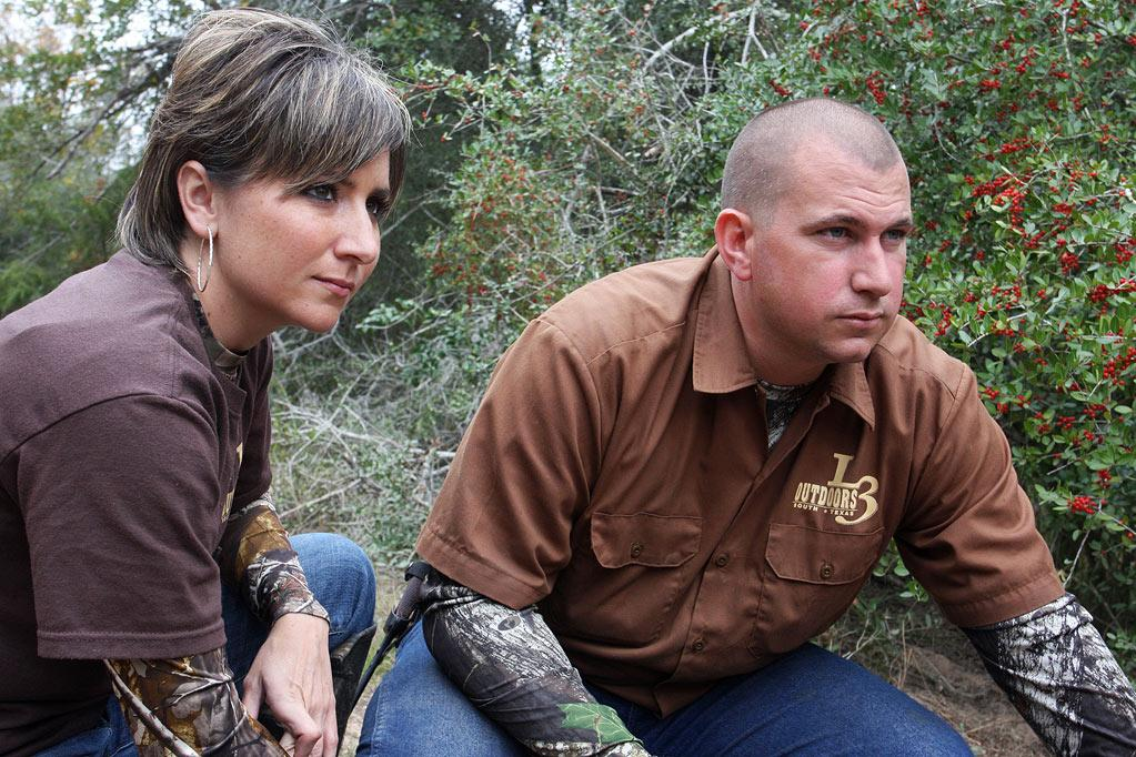 "Josh & Krystal of L3 Outdoors as seen on ""Wild Hogs."""