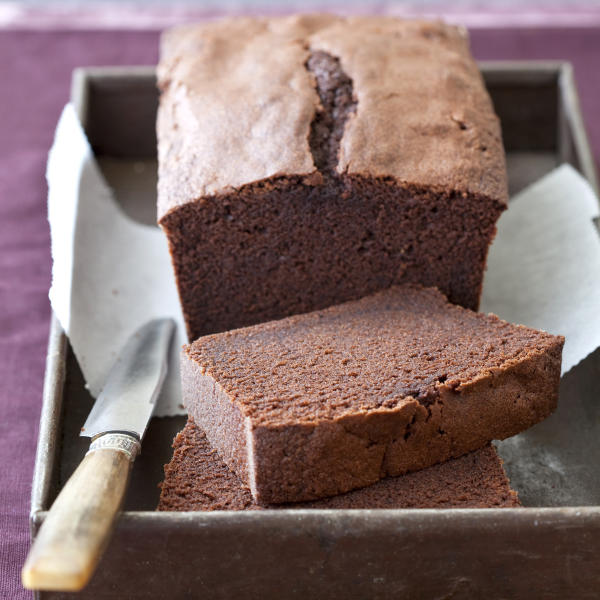 """This undated photo provided by America's Test Kitchen in February 2019 shows Chocolate Pound Cake in Brookline, Mass. This recipe appears in the cookbook """"The Perfect Cake."""" (Joe Keller/America's Test Kitchen via AP)"""