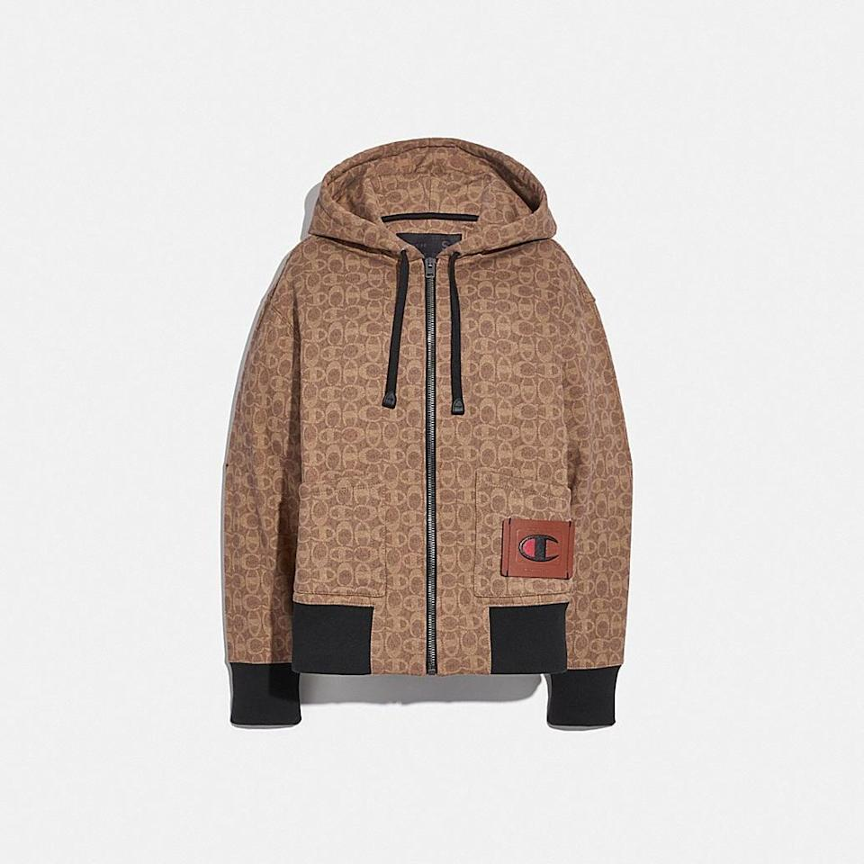 <p><span>Coach x Champion Super Fleece Signature Zip Hoodie</span> ($395)</p>