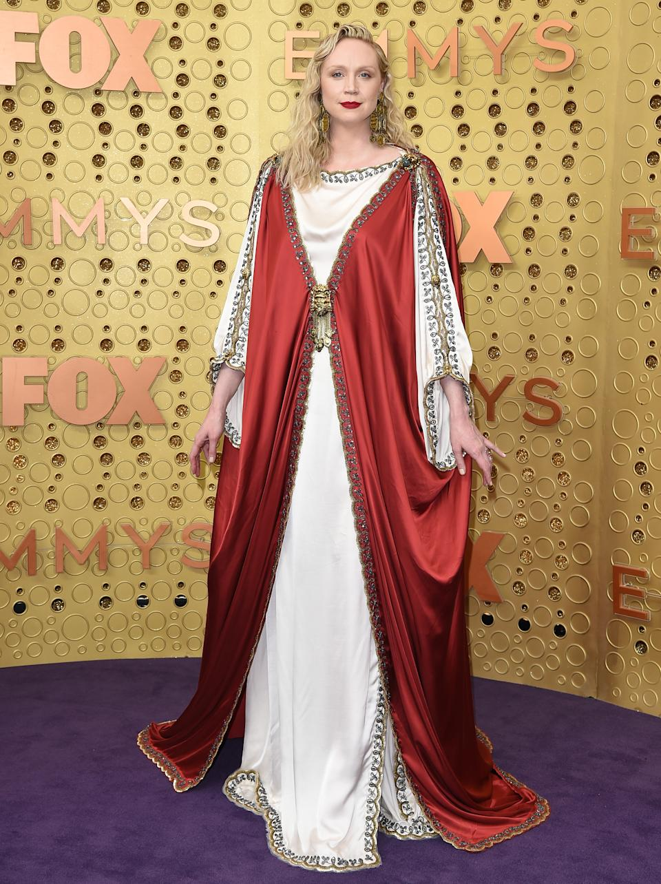 """<p>The """"Game of Thrones"""" star's biblical look at the 2019 Emmy Awards that sometimes, even Gucci makes mistakes. (Image via Getty Images)</p>"""