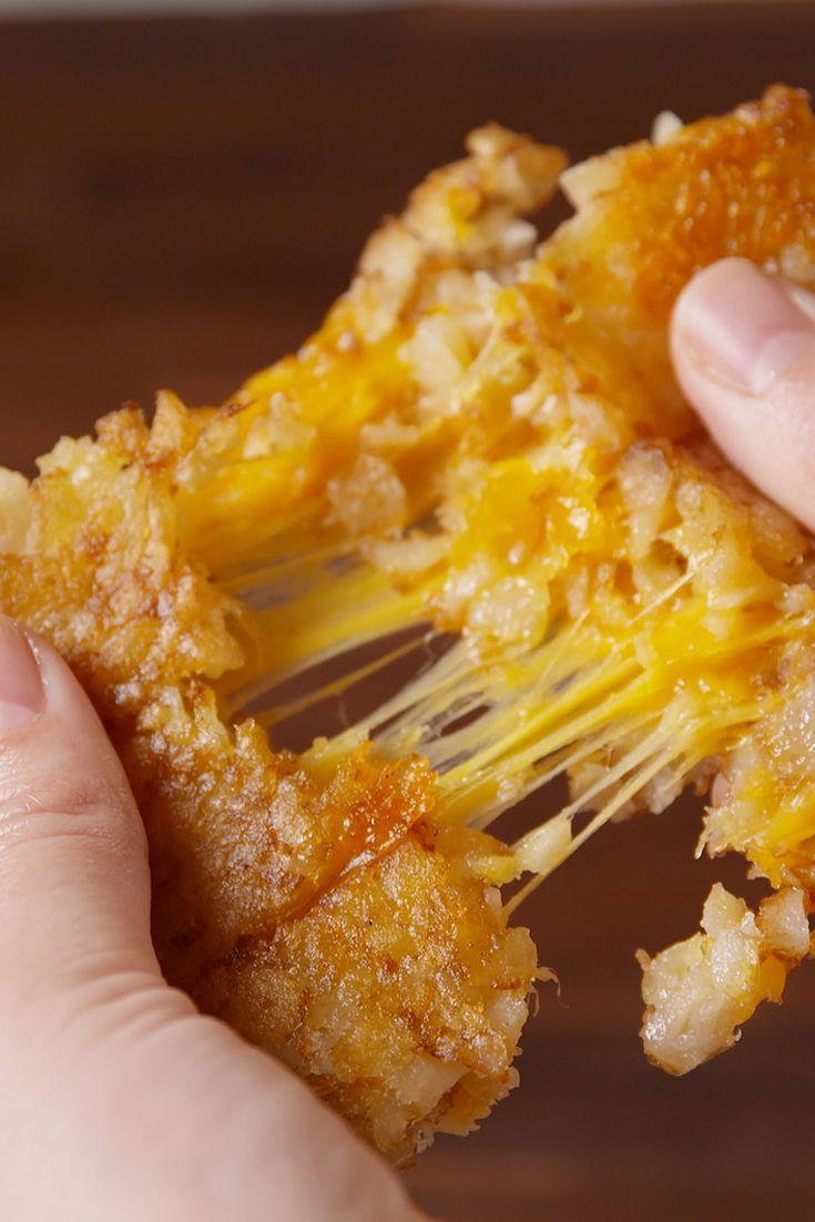 """<p><span>They'll love swapping bread for tots.</span></p><p><span>Get the recipe from </span><a href=""""/cooking/recipe-ideas/recipes/a51214/tater-tot-grilled-cheese-recipe/"""" data-ylk=""""slk:Delish"""" class=""""link rapid-noclick-resp"""">Delish</a><span>.</span><br></p>"""