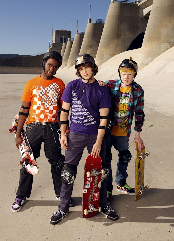 "The cast of ""Zeke & Luther."""