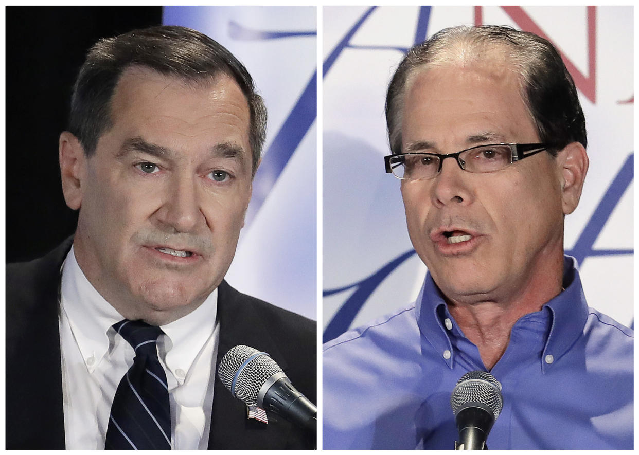 Democratic Sen. Joe Donnelly, left, and former Republican state Rep. Mike Braun. (Photos: Darron Cummings/AP, File)