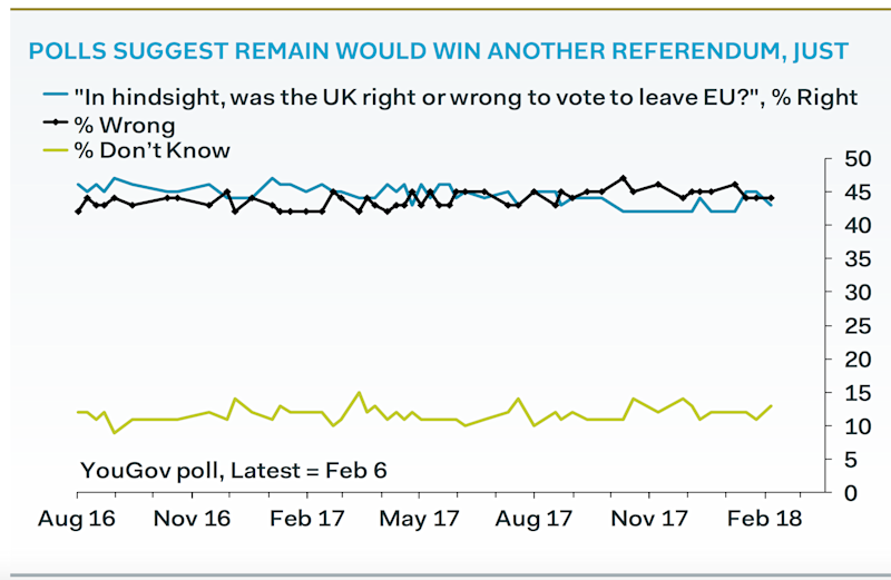 polls suggest remains would win new referendum