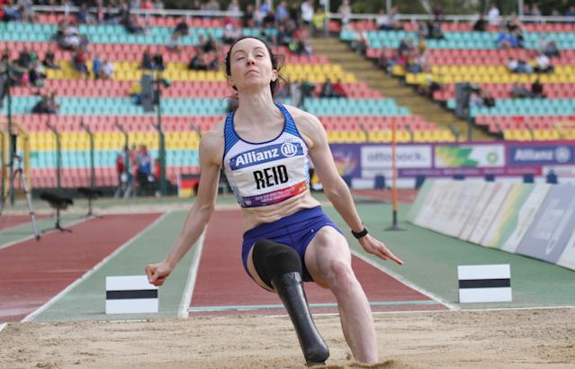 Reid went on to compete in the long jump in Berlin. Pic: Ben Booth Photography
