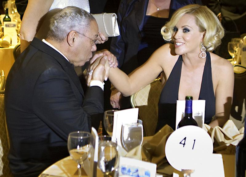 Jenny McCarthy and Colin Powell were quite a pair in 2008. (Photo: Getty Images)