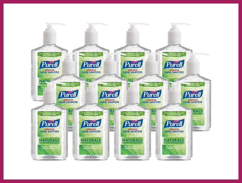 Purell Advanced Hand Sanitizer Naturals with Plant Based Alcohol, Citrus Scent, 8-ounce Pump Bottle (12-pack). (Photo: Amazon)