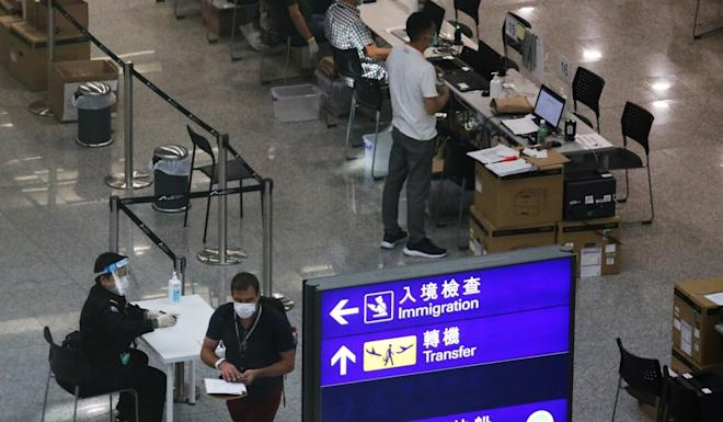Hong Kong airport allowed flight transfers from June 1, but transit services for mainland Chinese travellers began on August 15. Photo: Nora Tam