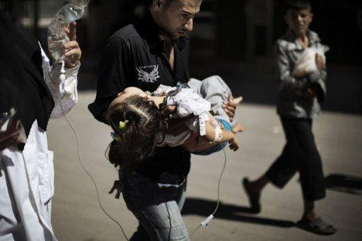 The Syrian Observatory for Human Rights said at least 65 civilians, nine rebels and 12 soldiers were killed on Tuesday