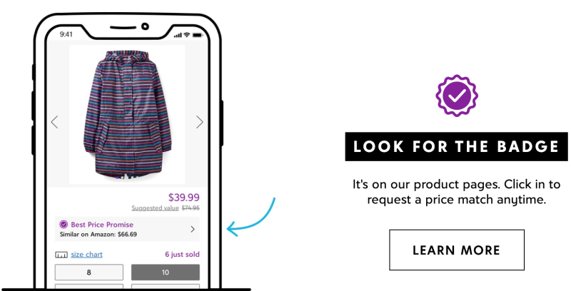 Zulily is offering Price Promise program