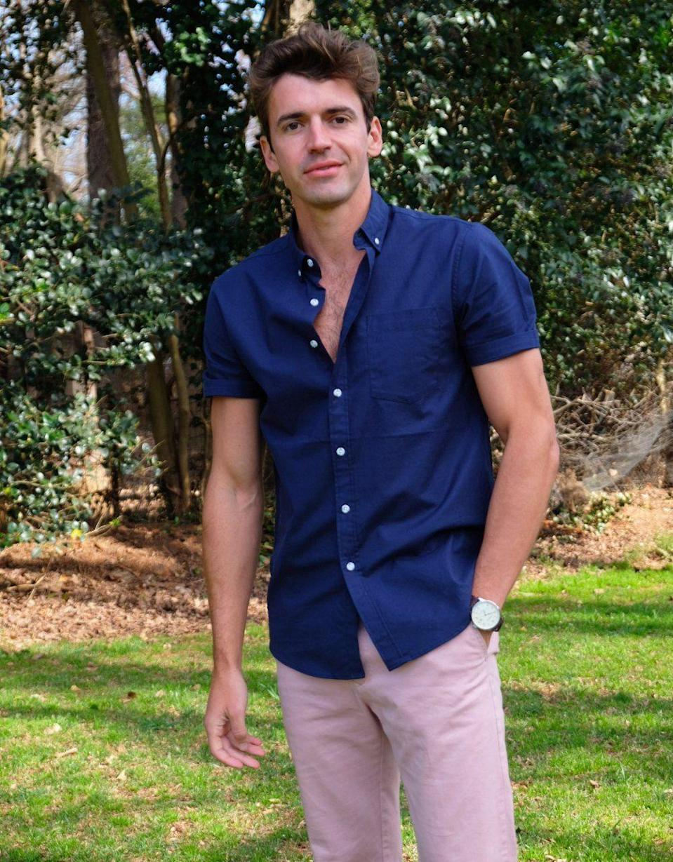 """<p>This Charlotte, NC, might be familiar to you if you watched season two of <em>Make Me a Supermodel</em> on Bravo. Apparently he went to <a href=""""https://news.belmont.edu/everett-appears-on-make-me-a-supermodel/"""" rel=""""nofollow noopener"""" target=""""_blank"""" data-ylk=""""slk:Belmont University"""" class=""""link rapid-noclick-resp"""">Belmont University</a> and studied PR. </p>"""