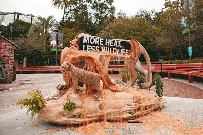 Melting wax sculptures by local artists show the severity of Florida's climate crisis.