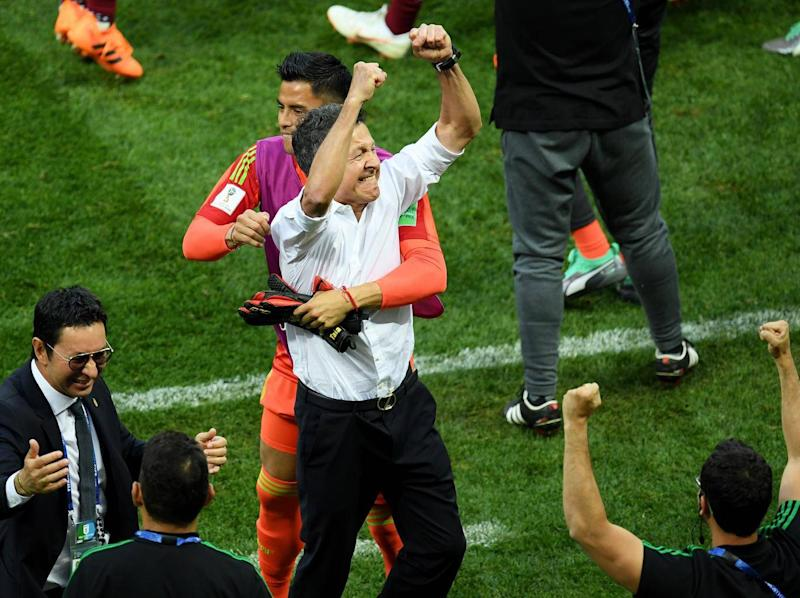 Juan Carlos Osorio celebrates a famous victory (Getty)