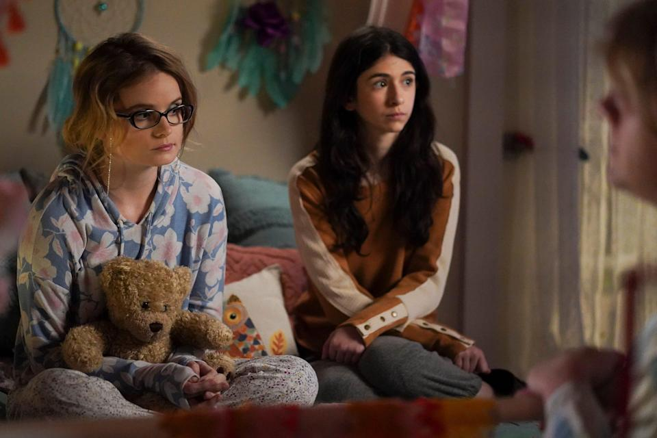 """Kayla Cromer as Matilda and Maeve press as Genevieve on """"Everything's Gonna Be Okay."""""""