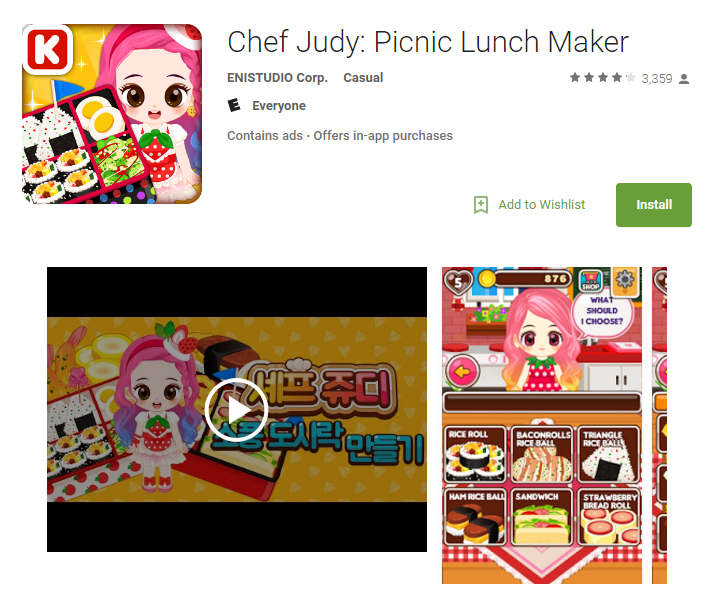 Chef Judy: Picnic Lunch Maker is one of the malicious apps that has now been deleted from the Google Play store  - Credit: Google