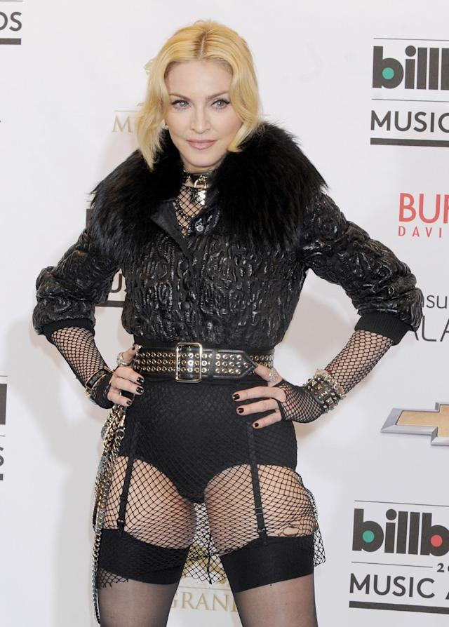 Madonna shares a topless selfie on social media. (Photo: Getty)