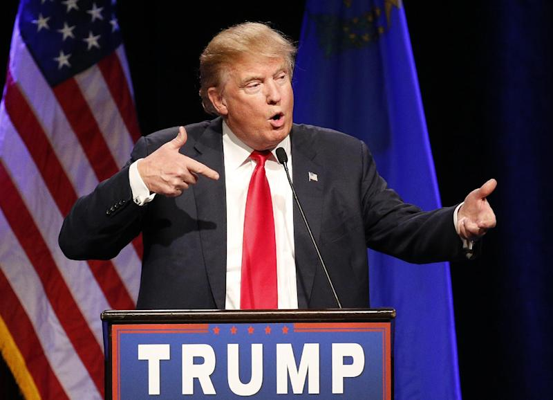 FILE - In this Dec. 14, 2015 file photo, Republican presidential candidate Donald Trump speaks about Army Sgt. Bowe Bergdahl at a rally in Las Vegas.  Trump's scathing criticism of Bergdahl will prevent the soldier from getting a fair trial on charges he endangered comrades by walking <a href=