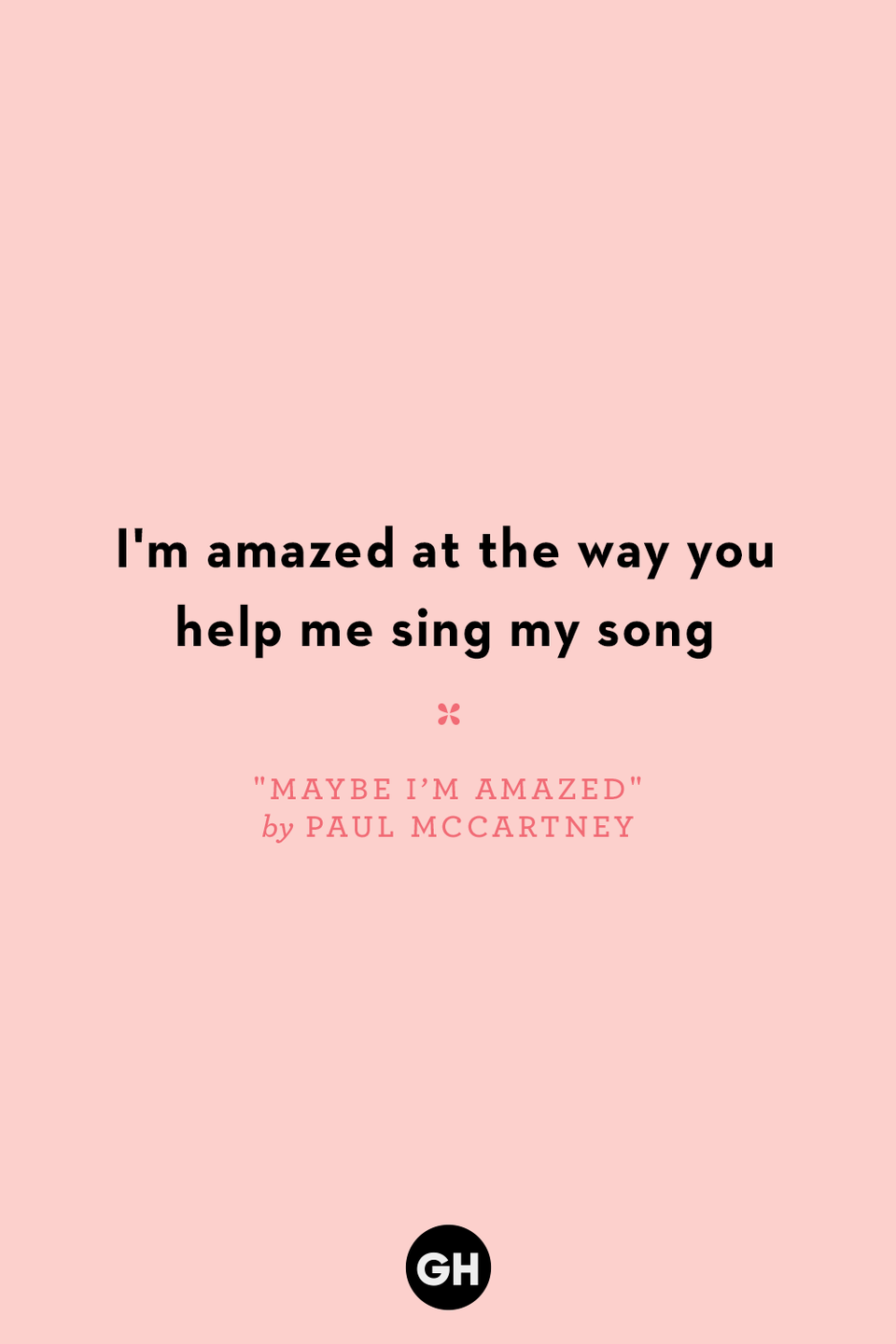 <p>I'm amazed at the way you help me sing my song</p>